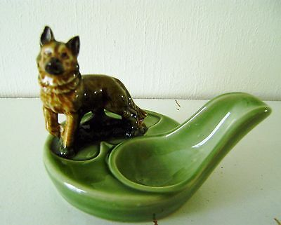 Wade Porcelain Smoker's Pipe Holder With Alstaion Dog Figure Excellent Quality