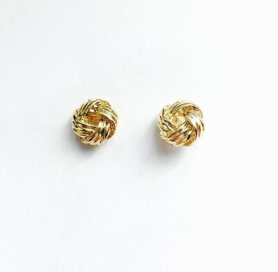 Zienna Collection Knot Stud Earrings 18K Gold Plated UK Edition Hypoallergenic
