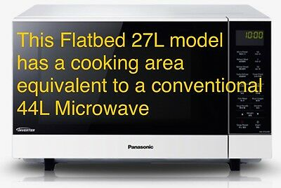 Panasonic 27L NN-SF564W 1000W Microwave Oven Inverter Equivalent to a 38ltr