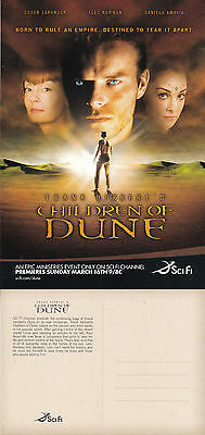 CHILDREN OF DUNE SciFi CHANNEL MINI SERIES ADVERTISING COLOUR  POSTCARD (b)