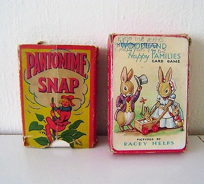 Vintage Pepys Woodland Snap Card Game Racey Helps Pantomime Snap In Fair conditi