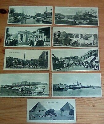 23 - Egypt Old Postcards Alexandrie bookmark size