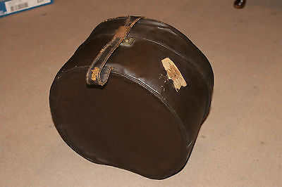 1920s leather hat box - Plus hat feather container and feathers!