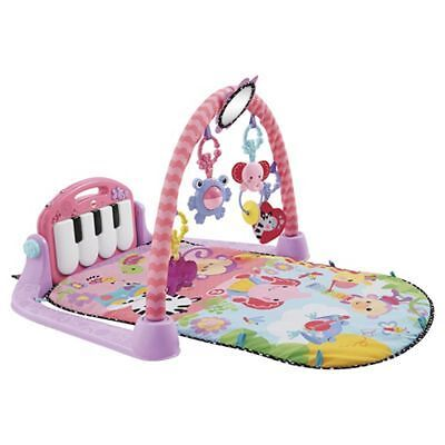 Fisher Price Kick And Play Piano PINK Gym, Baby Activity Mat NEW