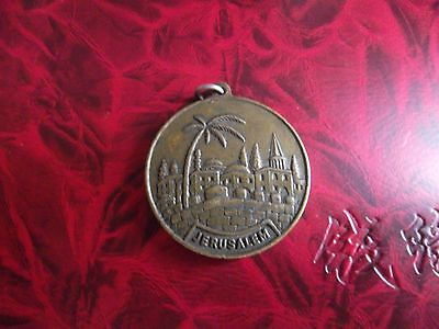 MEDALLION 3 cms DIAMETER FROM JERUSALEM in good condition.