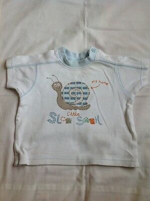 Baby Boys Top 0-3 months T-Shirt Top snail clothes