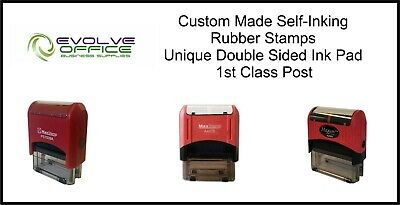 Self Inking Custom Made Rubber Stamps - Personalised & Bespoke D/Sided Ink Pads