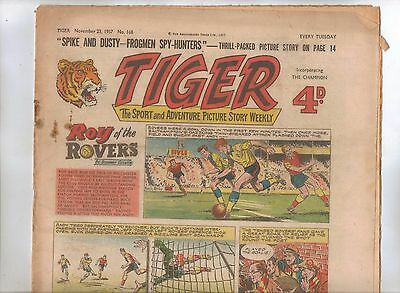 Tiger Comic No 168 (1957) - better than VG+ condition - Roy of the Rovers