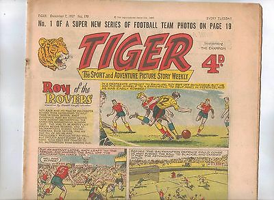 Tiger Comic No 170 (1957) - better than VG+ condition - Roy of the Rovers