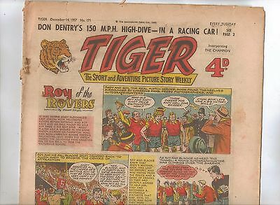 Tiger Comic No 171 (1957) - better than VG+ condition - Roy of the Rovers