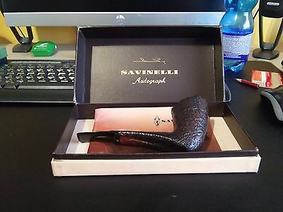 SAVINELLI - AUTOGRAPH Briar Pipe Pipes Pfeifen 烟斗 NEW OLD STOCK
