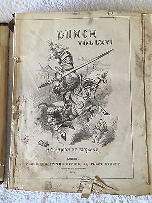 Old Editions of PUNCH magazine. 1874 & 1875.