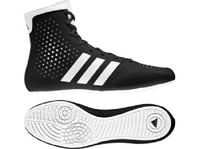 Adidas KO Legend Boxing Boots Black White Adult Kids Sparring High Top Style