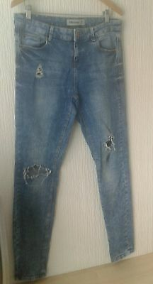 Ladies size 16 skinny stretch ripped/ distressed jeans
