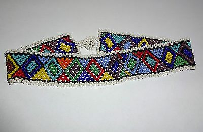 Vintage North American Native Beaded Choker Necklace
