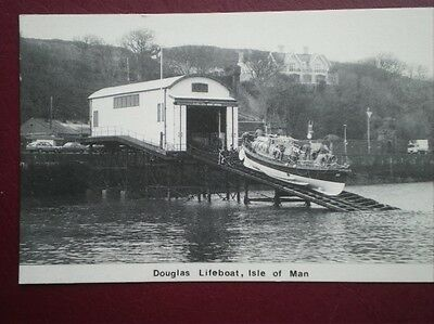 Postcard Lifeboats The Ra Colby Cubbin No 1 Lifeboat At Douglas Feb 1988