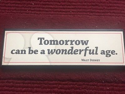 Disney Hallmark Walt Disney Quote Plaque