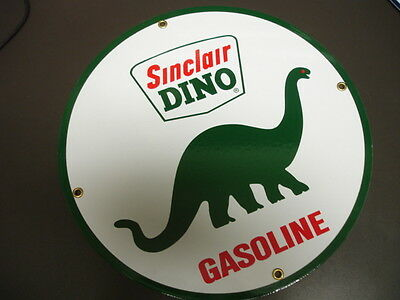 SINCLAIR DINO Oil Gas Porcelain Advertising Sign...~12""