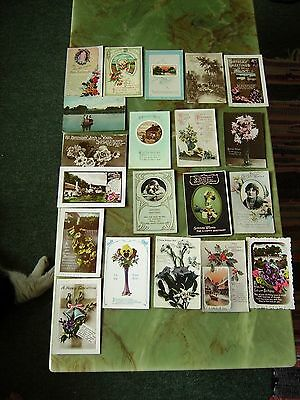 Collection Of 20 Vintage Postcards - Greetings. Lot 6 .