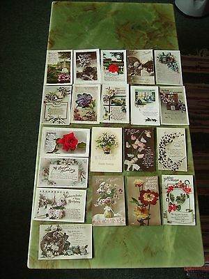 Collection Of 20 Vintage Postcards - Greetings. Lot 8 .