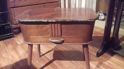 Vintage wooden sewing box/stool for restoration.