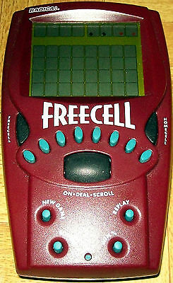 Electronic Handheld Working Radica Freecell Solitaire Hand Held Pocket Card Game