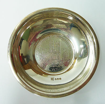 Vintage Solid Silver Pin Dish 1947 - 1977 Silver Wedding - Hallmarked 1978 - 75g