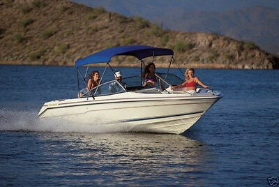 "Color Choice Bimini Boat Top 6Ft X 73-78"" Wide X 54""high 1""tube Includes Boot"