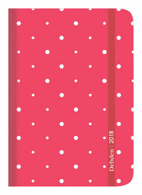 Diary 2018 Debden Vauxhall Plus Peach Pocket Day to Page VP61 13.5x9cm