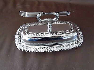 Vintage Irvinware 1971 Chrome Butter Dish (Cat.#3B015)