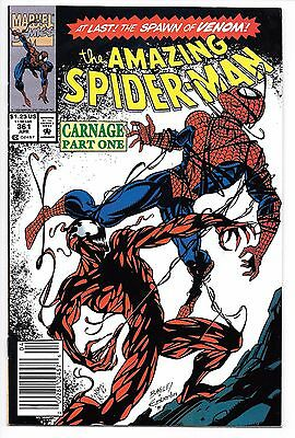Amazing Spider-man #361 and #362! High Grade! 1st Carnage! Venom Movie Villain!