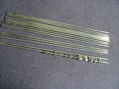 Full Set 16 Brass Stair Rods And 32 Brackets