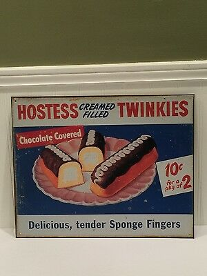 Tin Kitchen Sign,Tin Sign Hostess Cream Filled Twinkies, Reproduction Sign