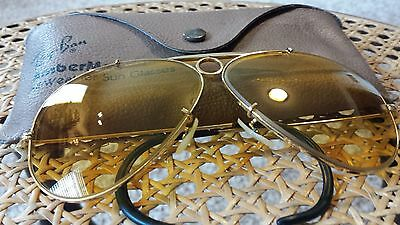 Vintage Ray Ban B&L Aviators SHOOTER AMBERMATIC All Weather 62mm CHANGEABLE