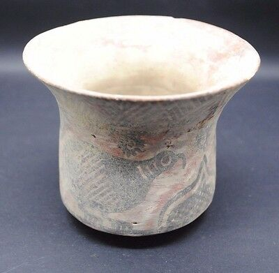 Indus Valley Terracotta Decorated Vessel From The Harappa Culture 3300-1200 Bc,