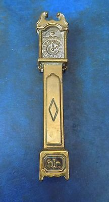 NICE ANTIQUE SOLID BRASS GRANDFATHER CLOCK DOOR KNOCKER c1920