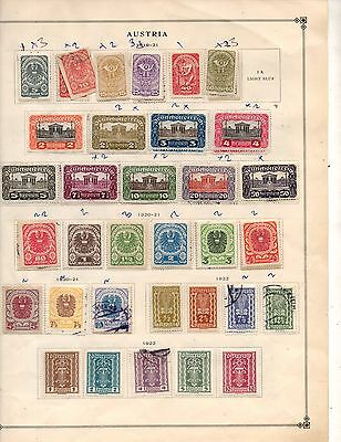 Austria Stamps 1919 To 1924 Used