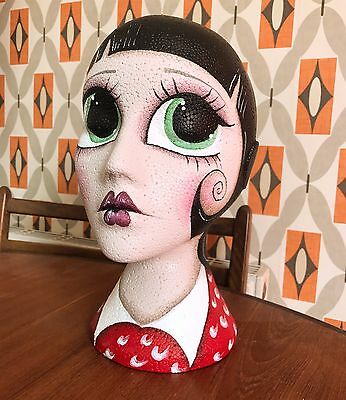 Love from Momo ® Hand Painted Mannequin Head Milliner/Vintage/Display