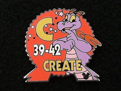 Disney Trading Pin - Epcot Create Parking Hidden Mickey Figment - 34466