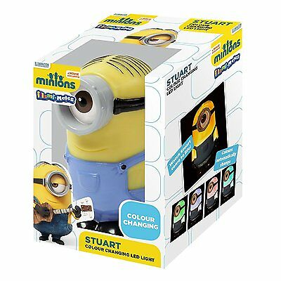 Despicable Me Minions Stuart LED Colour Changing Night Light Bedroom Brand New