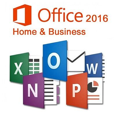 Microsoft Office Home and Business 1 PC 2016 Vollversion DE MS PKC KEY-Card