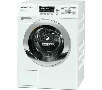 Miele WTF130 1600 Spin 7kg+4kg Washer Dryer in Whte with Chrome Door