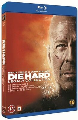 Die Hard Legacy Collection 5-Disc Blu Ray (Region Free)