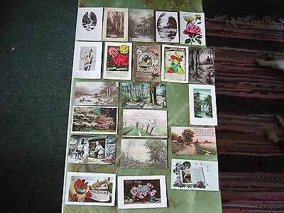 Collection Of 20 Vintage Postcards - Greetings -Lot 17