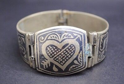 Interesting Decorated Silver Bracelet.