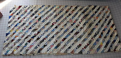 Vintage 1910-1930 partial quilt top, Millions of tiny triangles