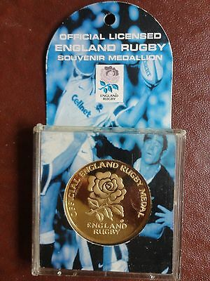 Official Licensed England Rugby Souvenir Medallion