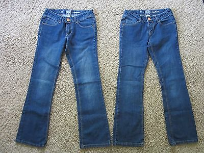 SO girls size 10 denim bootcut jeans - LOT of 2