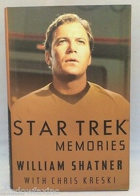 """Star Trek Memories William Shatner  Autobiography ~First Edition ~ HCDJ ~1993"