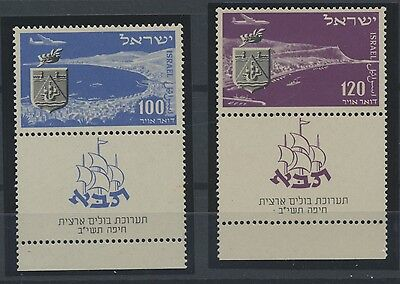Israel 1953 MiNr 67 68 Full Tab MNH ** TABA 2. Nationale Briefmarkenausstellung